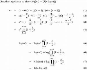 Algorithm - Is Log N      U0398 N U00b7log N