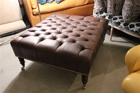 Oversized Tufted Ottoman by Oversized Leather Tufted Ottoman For Sale At 1stdibs