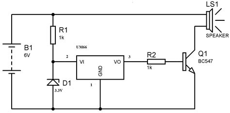 Electronic Bell Circuit Diagram by Um66 Melody Generator Circuit For Beginners