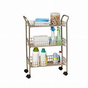 3 tier rolling bath cart with locking wheels in matte With bathroom cart on wheels