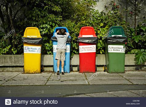 Recycling Bins, New Zealand Stock Photo, Royalty Free Image 34997135 Alamy