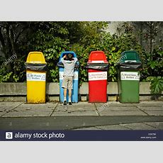 Recycling Bins, New Zealand Stock Photo, Royalty Free Image 34997135 Alamy