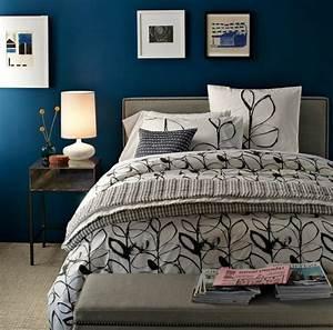 Farbbeispiele Für Schlafzimmer : schlafzimmer blau 50 blaue schlafbereiche die schlaf und erholung garantieren ~ Sanjose-hotels-ca.com Haus und Dekorationen