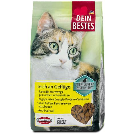 dein bestes sterilisiert kastriert katzen trockenfutter