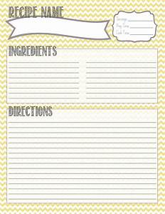 25 best ideas about printable recipe cards on pinterest With free recipe template for cookbook