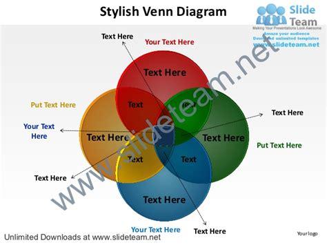 Stylish Venn Diagram Powerpoint Diagrame Templates