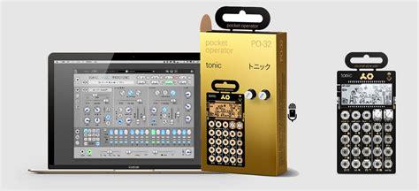 teenage engineering po  tonic  drum synth  mic