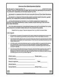 opt in form templatesccss opt out form stop common core With free opt in form templates
