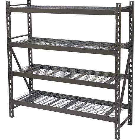 Rack Industrial by Ironton 4 Tier Industrial Shelving Rack 77in W X 24in D