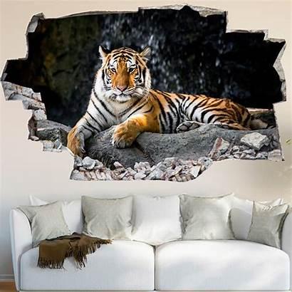 Murali Tiger Vinyl Adesivi Lesara Decorare Casa