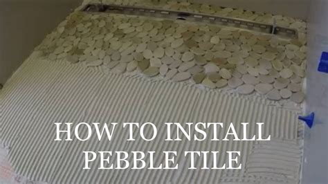 how to lay shower tile how to lay pebble tile shower pan floor