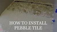 how to tile HOW TO LAY PEBBLE TILE SHOWER PAN FLOOR - YouTube