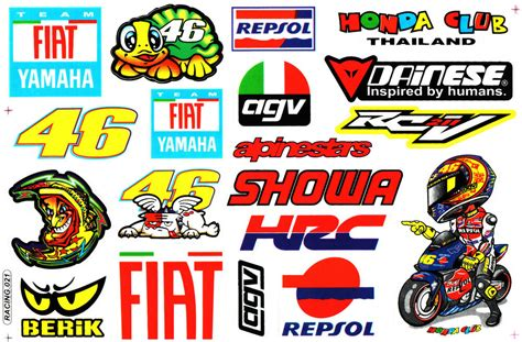 Valentino Rossi Turtle 46 Fiat Sticker Motorcycle Race