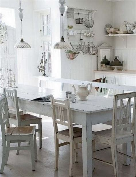 shabby kitchen table 35 awesome shabby chic kitchen designs accessories and