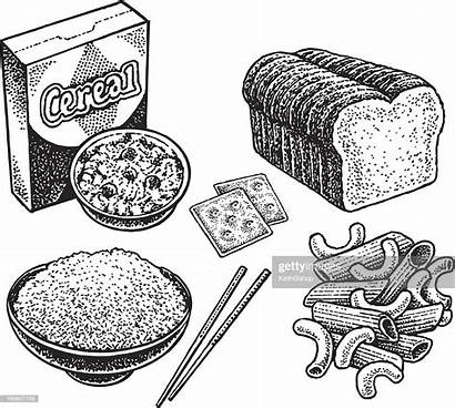 Rice Bread Carbohydrates Cereal Crackers Clipart Pasta