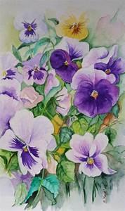 Aquarell Malen Blumen : blumen stiefm tterchen original aquarell 17x24 cm ~ Articles-book.com Haus und Dekorationen