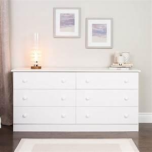 Prepac, White, Edenvale, 6, Drawer, Dresser, -, Home, -, Furniture, -, Bedroom, Furniture