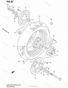 Suzuki Motorcycle 2003 Oem Parts Diagram For Rear Wheel
