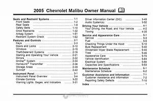 Chevrolet Malibu Maxx Lx 2005 Owner U0026 39 S Manual  U2013 Pdf Download