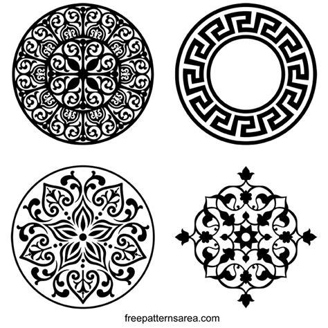bird ornament vector art  scroll  pattern