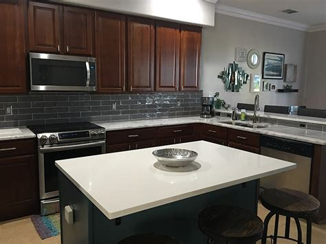 how to install a backsplash in kitchen mont blanc granite countertops by granite perfection 9414