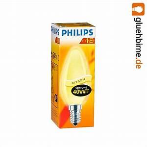 Glühbirne 40 Watt : philips gl hbirne kerze softone citron 40w e14 gl hlampe 40 watt gl h ~ Frokenaadalensverden.com Haus und Dekorationen