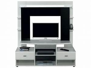 Meuble De Télé Conforama : meuble tv teneo coloris noir et blanc conforama ~ Teatrodelosmanantiales.com Idées de Décoration