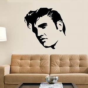 shop large wall stencils on wanelo With best brand of paint for kitchen cabinets with elvis presley wall art
