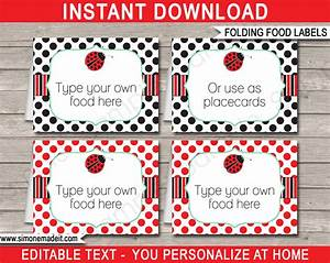printable ladybug party food labels place cards With food labels for party template