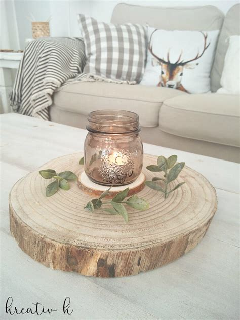 5 Minute Simple & Rustic Fall Coffee Table Centerpiece