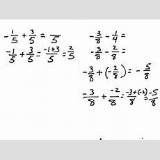 Showme  Subtract Negative Fractions