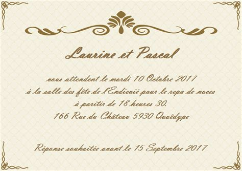 carte d invitation mariage mod 232 les de carte d invitation de mariage gratuits 224