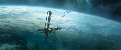 Halo Reach Fall Orbital Defense Platform Unsc