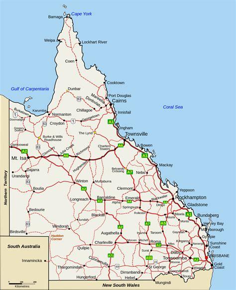 queensland australia map towns