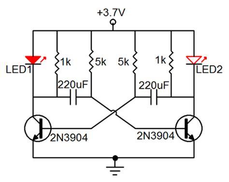 Light Circuit Diagram Astable Multivibrator Led