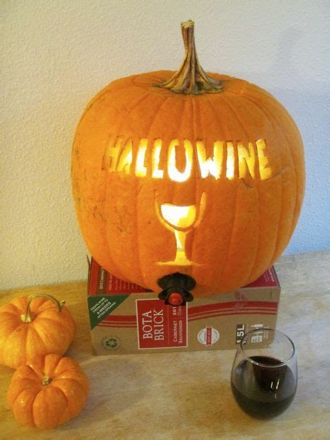 Pumpkin Wine Cooler  Halloween Food  Pinterest Wine
