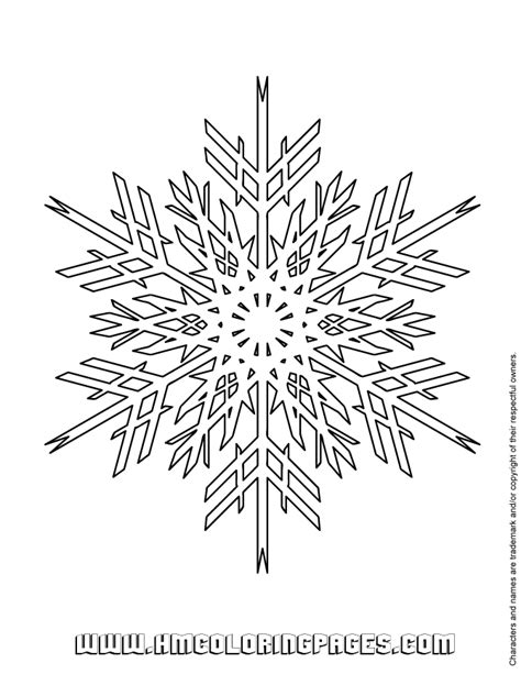 advanced snowflake design coloring page   coloring pages