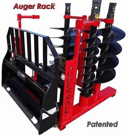 Skid Auger Storage Steer Drive Rack Bits