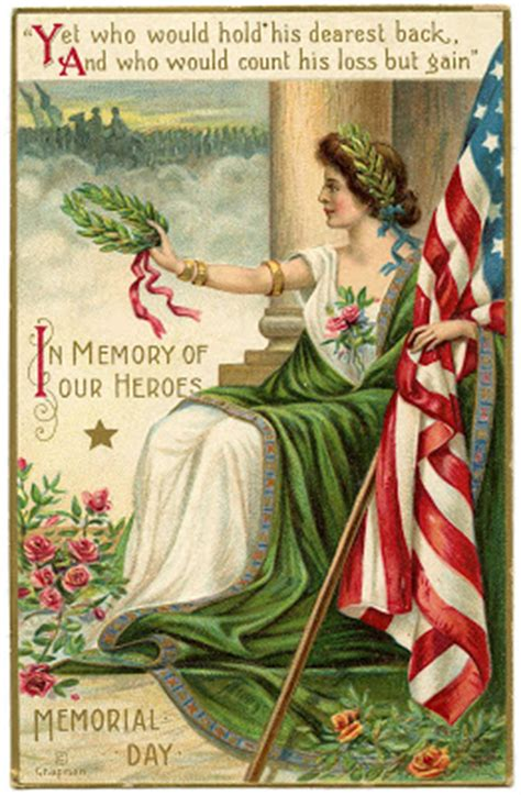 vintage memorial day image lady liberty   graphics