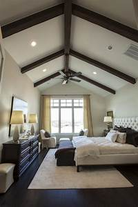 exposed wood beams transitional bedroom southern living With ceiling design for master bedroom