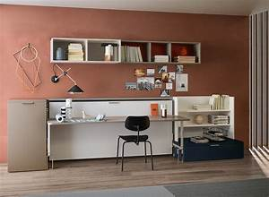 Cabrio IN Twin Size Wall Bed & Desk Space Saving Bed
