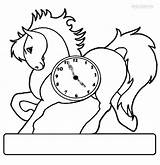 Clock Coloring Pages Horse Face Grandfather Alarm Printable Past Half Cuckoo Six Cool2bkids Intervals Minute Getcoloringpages Coloringpagesonly sketch template