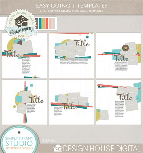 Tiffany Tillman Templates by Dhd House Party New Easy Going Templates Simply