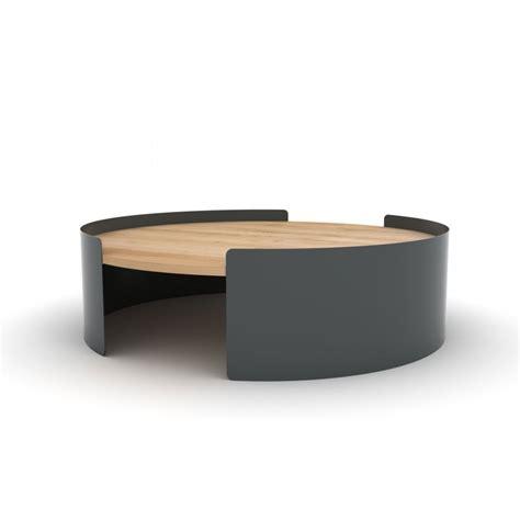 boites rangement bureau table basse ronde en métal et chêne massif table moon