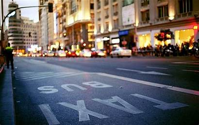 Street Madrid Spain Background Backgrounds Wallpapers Taxi