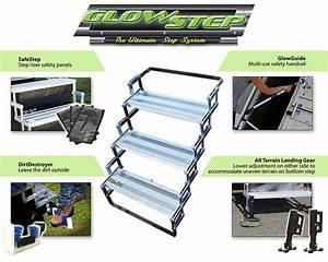 Torklift A7803 Glow Steps Rv Scissor Steps Glowsteps 3 X 8 U0026quot  20cm  Deep Steps 874929011085