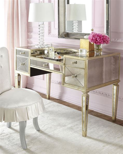 vanity desk with mirror new amelie antique mirrored vanity makeup table desk
