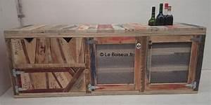 Acheter Meuble En Palette Bois : meuble bas bois recycl sur mesure plateaux de table en ~ Premium-room.com Idées de Décoration