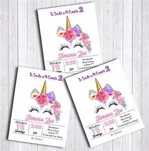 25 Invitaciones Cumpleaños, Unicornio Unicornface $ 200 00 en Mercado Libre