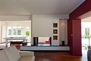Cheminée Double Face : cheminee foyer ouvert double face ~ Preciouscoupons.com Idées de Décoration